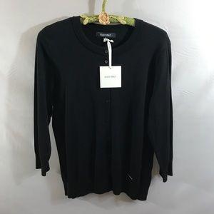 Ellen Tracy black cardigan sweater NEW!